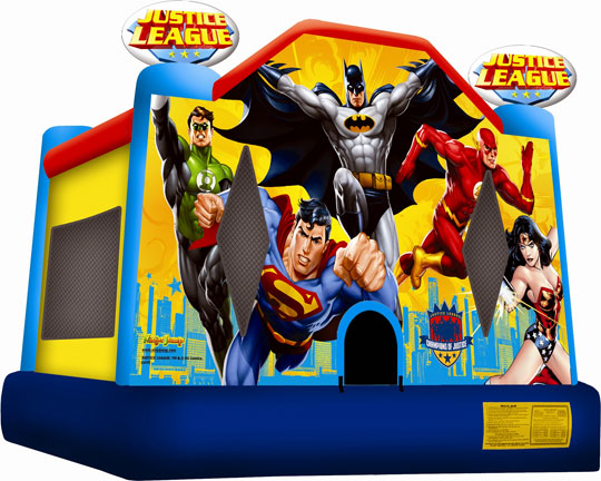 bounce house justice league