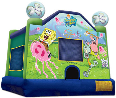 bounce house spongebob
