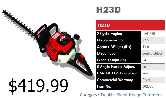 H23d Spec
