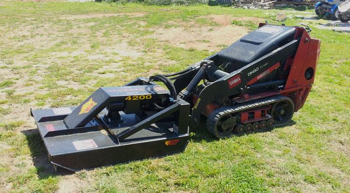 Brush Mower Attachment Mini Skid Steer Equipment