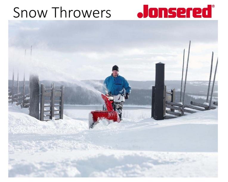 JONSERED SNOW BLOWER COVER SHEET