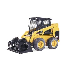 skid steer with grapple bucket
