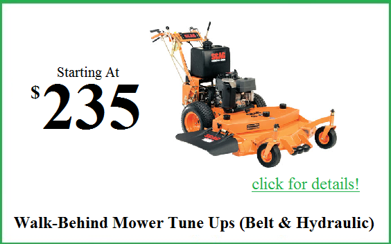 walk behind mower tune up
