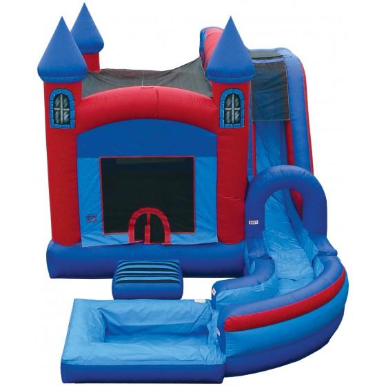 e inflatables jump n splash castle w pool