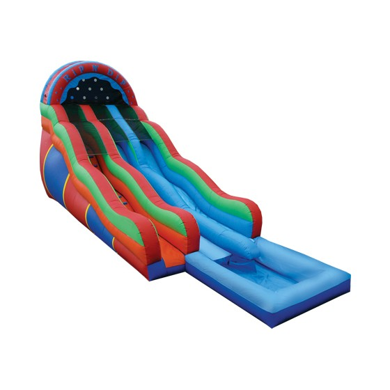 e inflatables rip n dip slide w pool