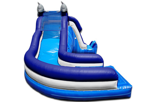 dolphin side load water slide front view