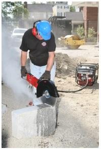 hydraulic cut off saw